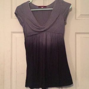 Black and grey stretchy top